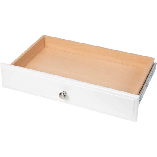 Easy Track 4 In. White Deluxe Drawer