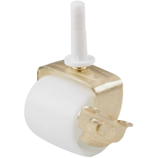 Do it 2-1/8 In. Plastic Bed Stem Caster with Brake (2-Pack)
