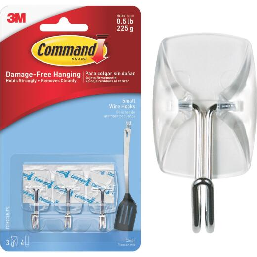 Command Clear Wire Adhesive Hook (3 Pack)