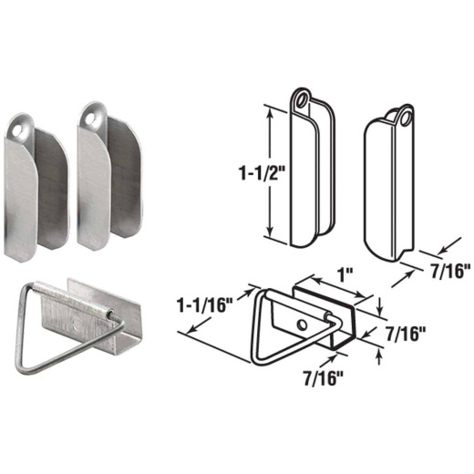 Prime-Line 7/16 In. Mill Hanger & Latch (2 Pack)