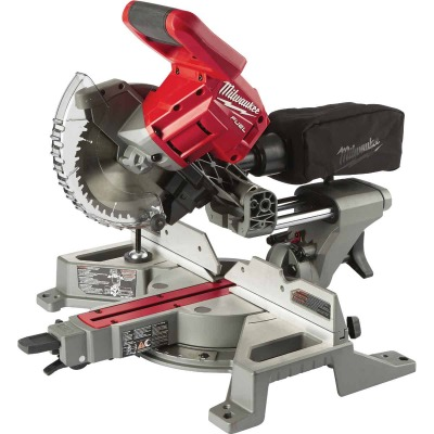 Milwaukee M18 FUEL 18 Volt Lithium-Ion Brushless 7-1/4 In. Dual-Bevel Sliding Compound Cordless Miter Saw (Bare Tool)