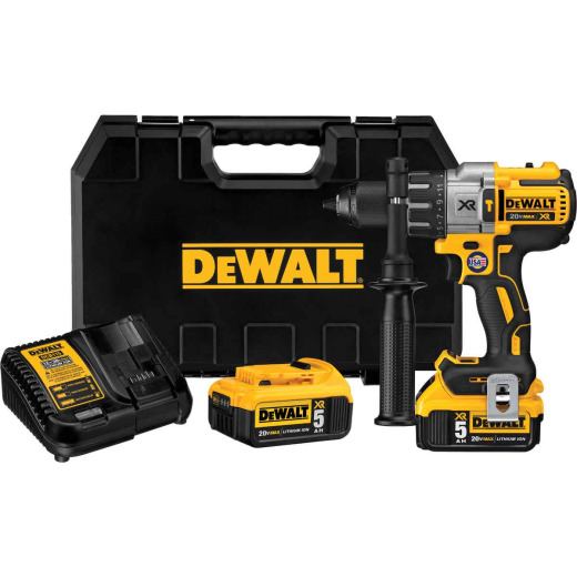 DeWalt 20 Volt MAX XR Lithium-Ion Brushless 1/2 In. 3-Speed Cordless Hammer Drill Kit