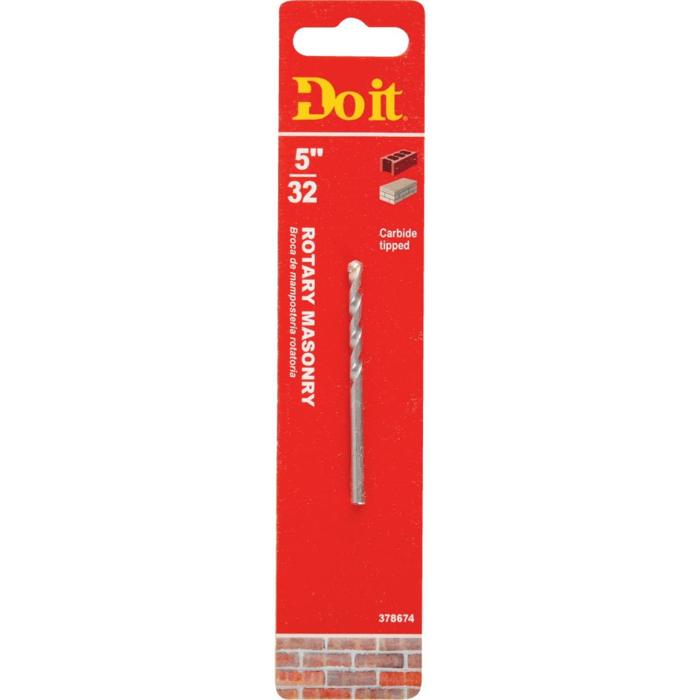 Do it 5/32 In. x 4-1/2 In. Rotary Masonry Drill Bit Image 1