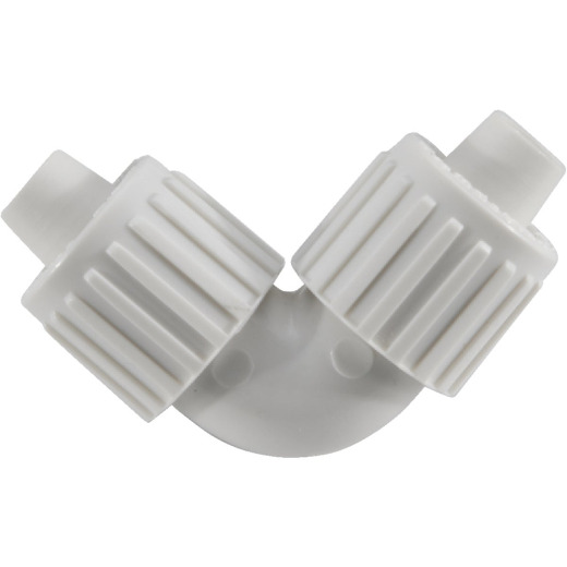 Flair-It 3/8 In. x 3/8 In. 90 Deg. Plastic Compression PEX Elbow (1/4 Bend)