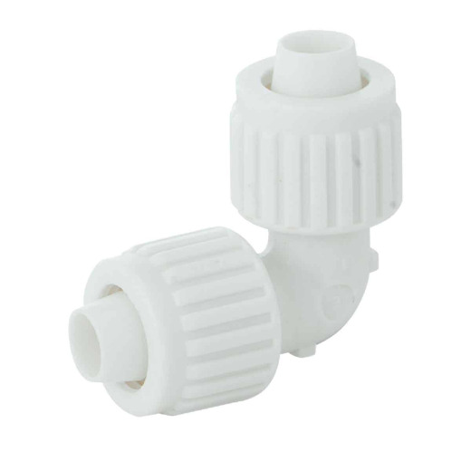 Flair-It 1/2 In. x 1/2 In. 90 Deg. Plastic Compression PEX Elbow (1/4 Bend)