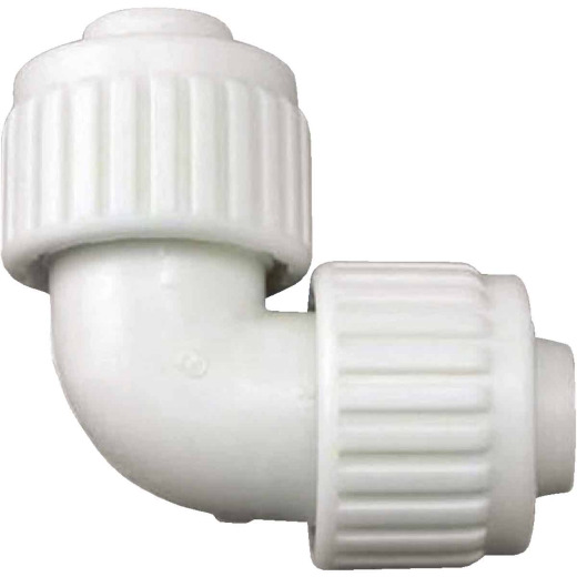 Flair-It 3/4 In. x 3/4 In. 90 Deg. Plastic Compression PEX Elbow (1/4 Bend)