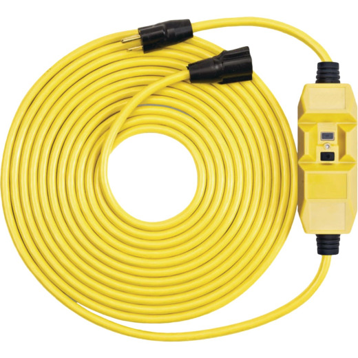 Southwire 25 Ft. 12/3 Heavy-Duty GFCI In-Line Extension Cord