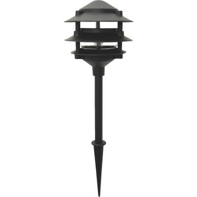 Moonrays Incandescent Black 3-Tier Landscape Stake Light