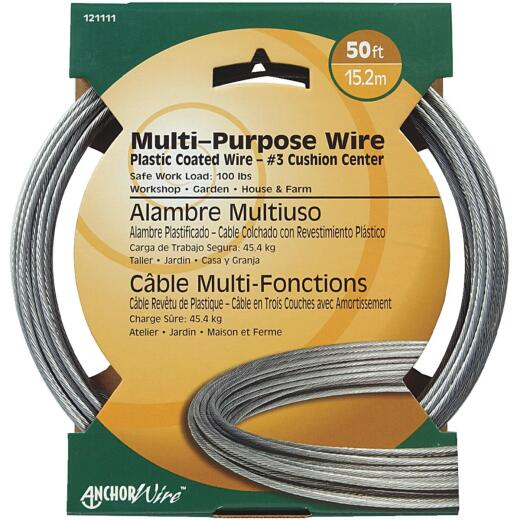 HILLMAN ANCHOR WIRE 50 Ft. #3 Multi-Purpose Clothesline