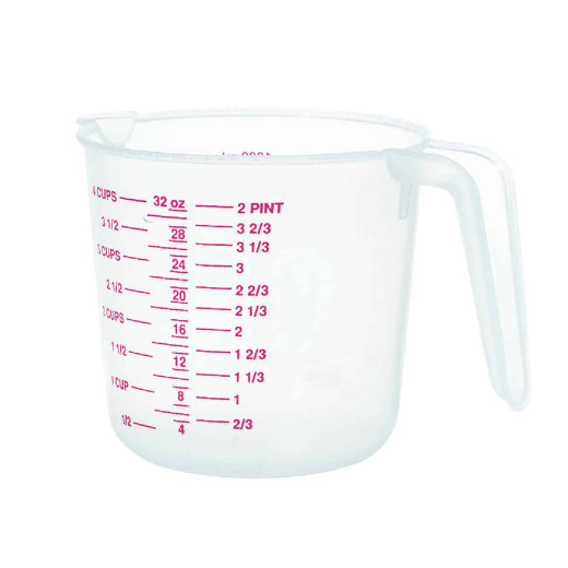 Norpro 4 Cup White Plastic Measuring Cup