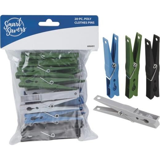 Smart Savers Spring Poly Clothespins (20-Pack)