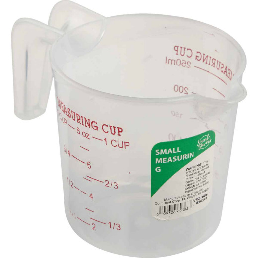 Smart Savers 1 Cup White Plastic Measuring Cup