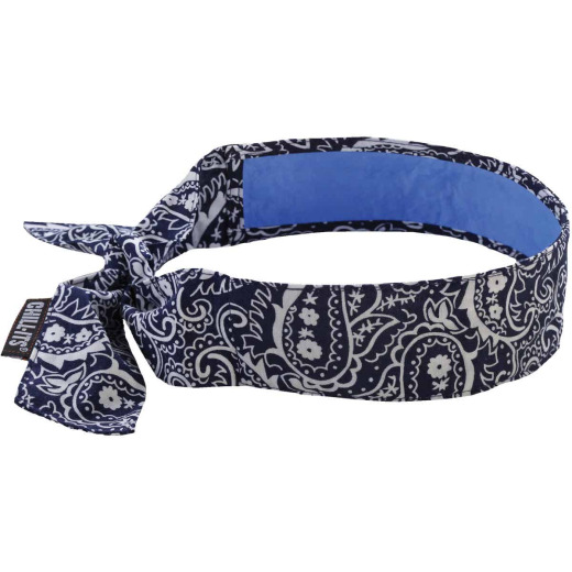 Ergodyne Chill-Its Headband Navy Western Cooling Bandana
