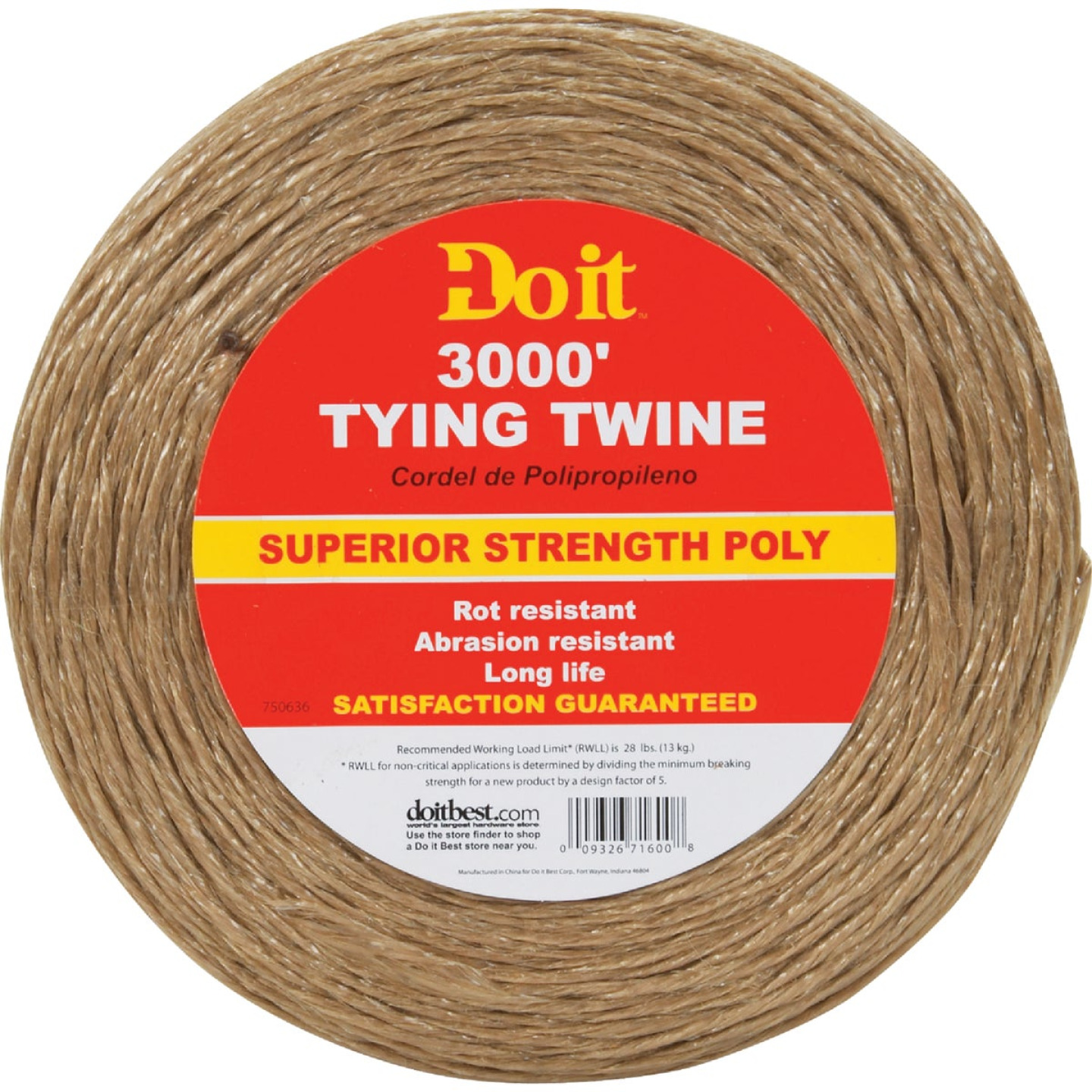 Do it 5/64 In. x 3000 Ft. Brown Polypropylene Tying Twine Image 1