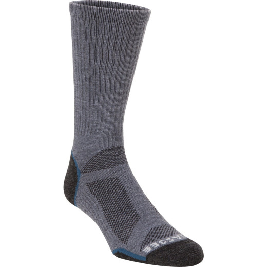 Hiwassee Trading Company Extra Large Charcoal/Blue Lightweight Performance Tech Crew Sock