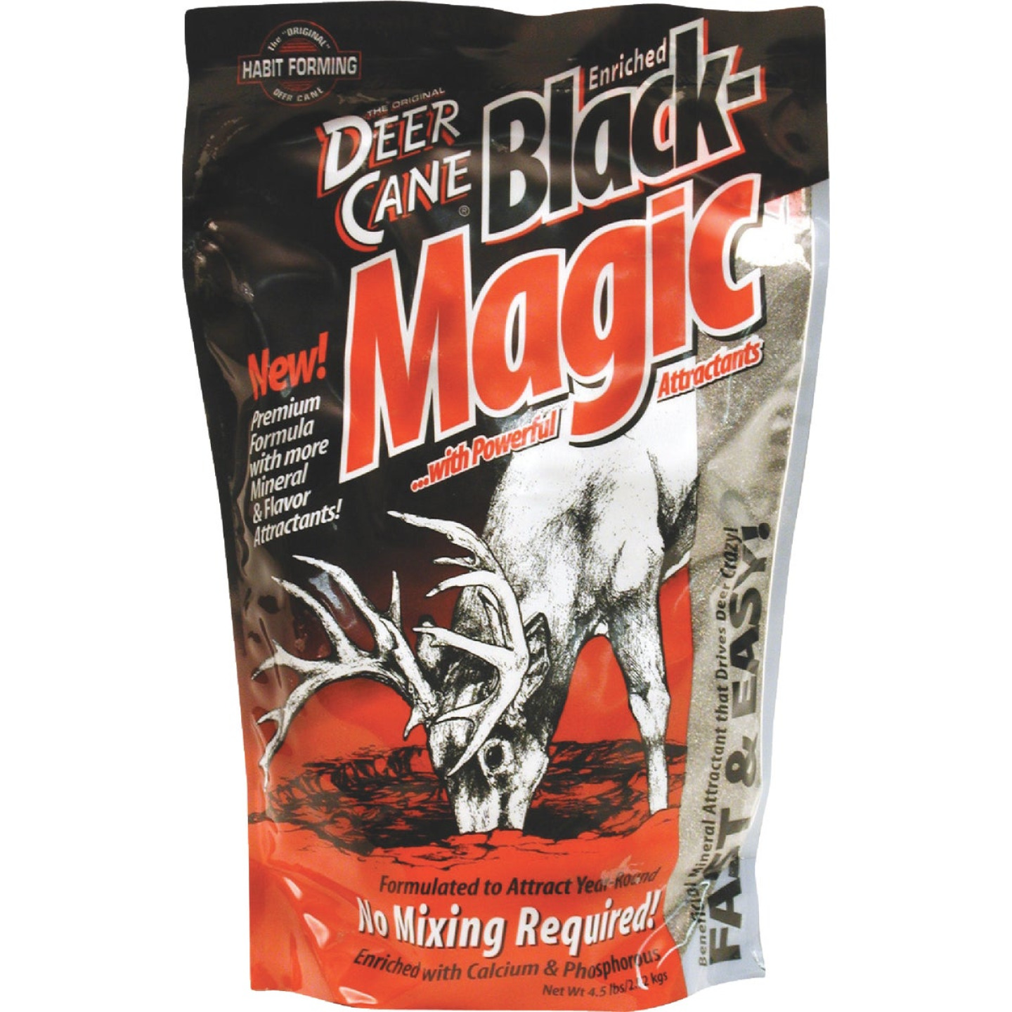 Deer Cane Black Magic 4-1/2 Lb. Granular Mineral Deer Attractant Image 1