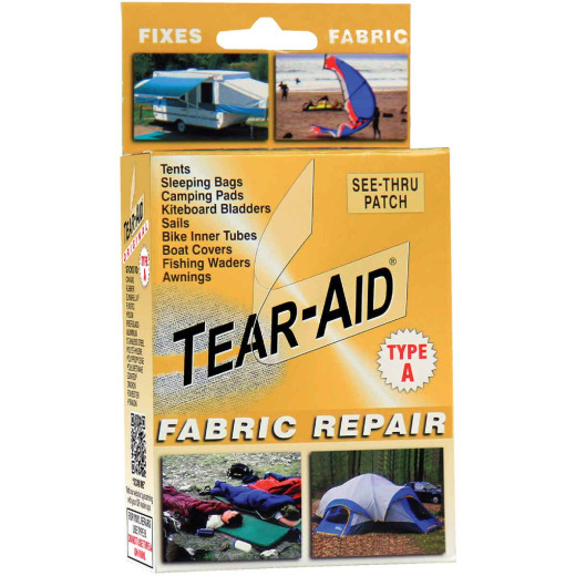 Tear-Aid Transparent Tent & Multi-Use Fabric Repair Kit