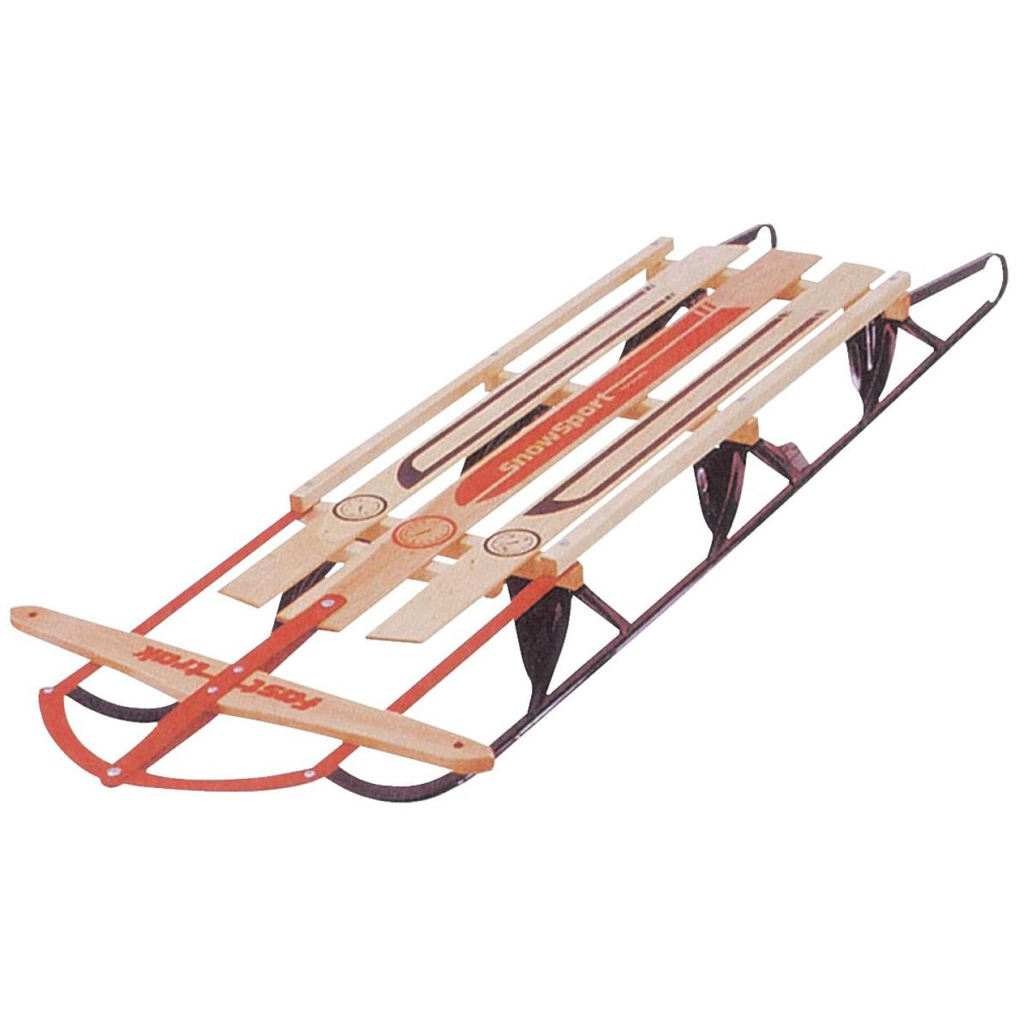 Flexible Flyer Wood & Steel 60 in. Snow Sled Image 1