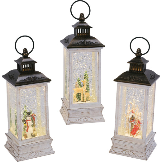 Gerson 11 In. H. Battery Operated Lighted Spinning Water Lantern