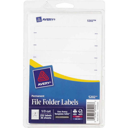 Avery Products Permanent Filing Label (252-Pack)